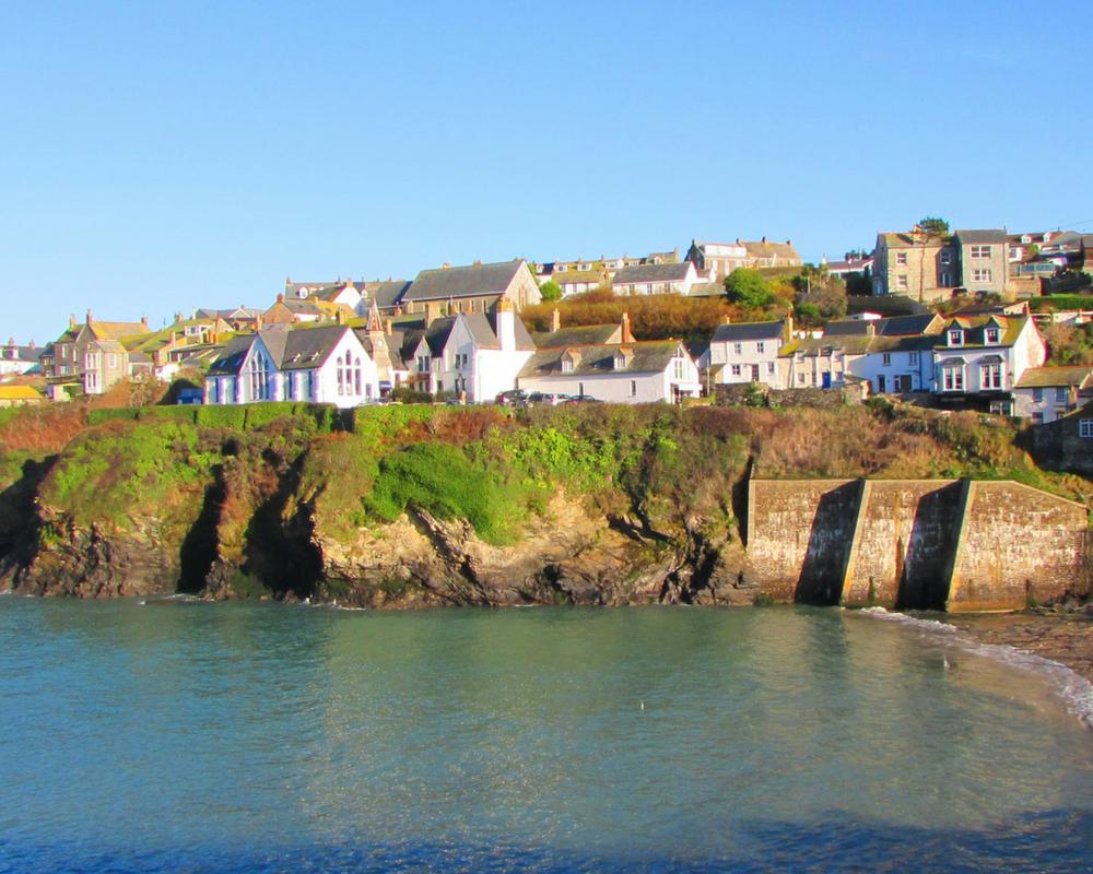 Cornish seaside village on the cliffs
