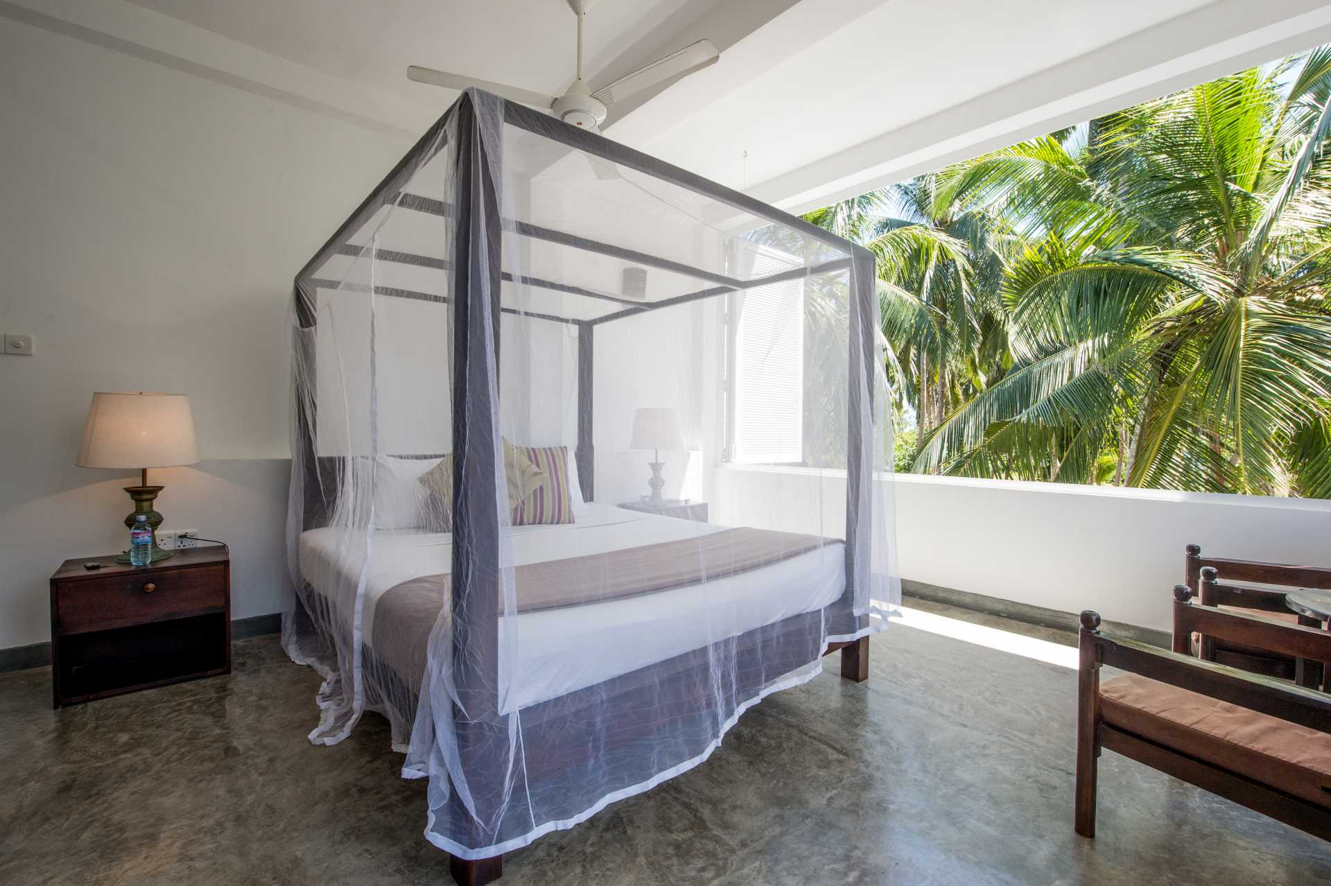 Sri-Lanka-Jasper-house-double-room-view-from-bed-open-window-palms