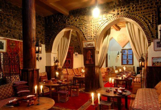 dining room kasbah hiking yoga holiday atlas mountains morocco