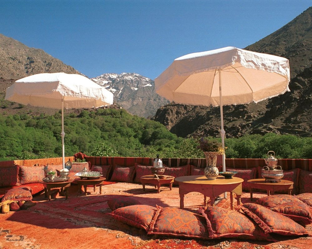 outdoor seating area morocco design