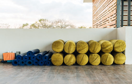 bolsters and yoga mats yoga holiday costa rica