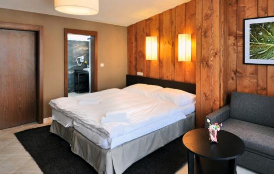 double bed and bathroom door jasna slovakia