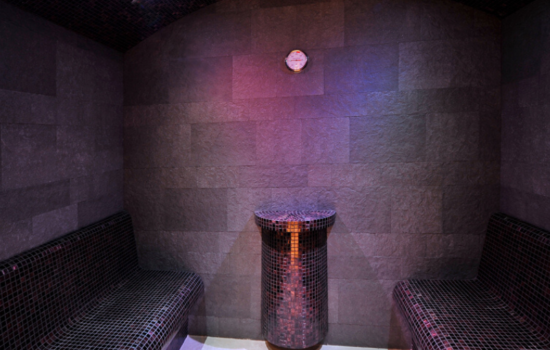 sauna with purple lighting skiing yoga holiday jasna, slovakia