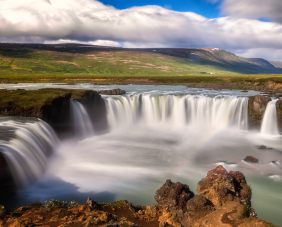 Myvatn waterfall adventure yoga holiday Iceland