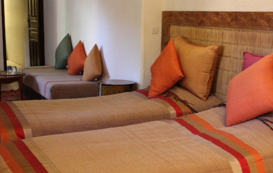 twin room 2 beds yoga holiday Marrakech
