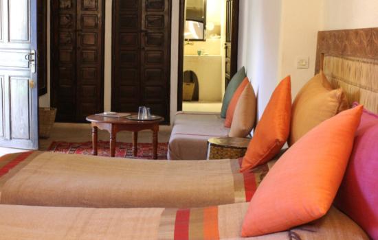 twin room yoga holiday marrakech