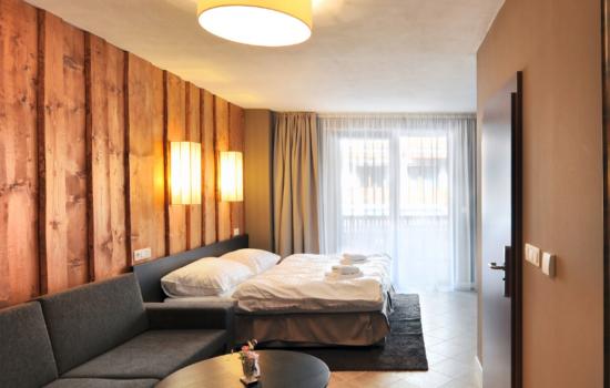 double bed and sofa wellness hotel spa slovakia
