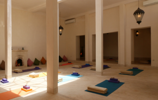 indoor yoga space yoga mats on floor yoga holiday marrakech