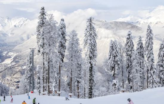 ski slope and mountains slovakia