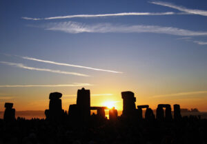 The summer solstice celebrations at Stone Henge